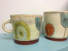 Mugs by Kari Radasch redware on Etsy