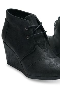 black wedge Toms size 6.5 please