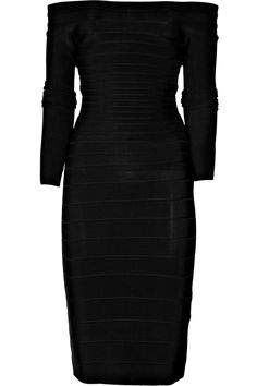 1e7e3630737  Hervé Léger Off-the-Shoulder Bandage Dress   dress  1150 Herve Leger