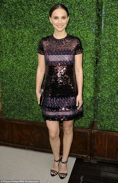 Sparkling: Natalie Portman was a shiny happy person as she arrived in Beverly Hills for a ...
