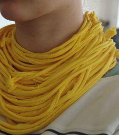 'Psarokokalo' textile neckpieces