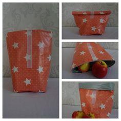 Lunchbag Sterne orange