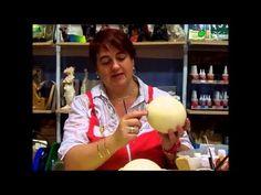 pintando huevos de avestruz desiree castells gine - YouTube