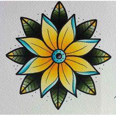 traditional tattoo flower - Cerca con Google