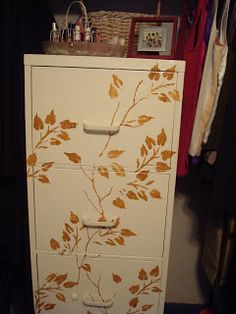 Decorating with CENTS: Rusty File Cabinet