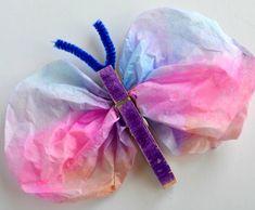 Schmetterlinge basteln mit Kindern - 24 tolle Ideen für eine Frühlingsdeko