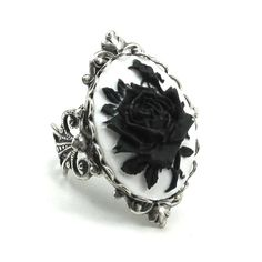 Neo Victorian Ring  Gothic Ring  Adjustable by ghostlovejewelry, $35.00
