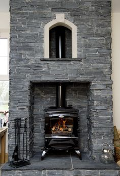 The Lismore stove comes in room heating and central heating versions. Wood Burner Fireplace, Cabin Fireplace, Fireplace Design, Fireplace Mantels, Mantle, Fireplaces, Stanley Stove, Free Standing Electric Fireplace, Log Burner Living Room