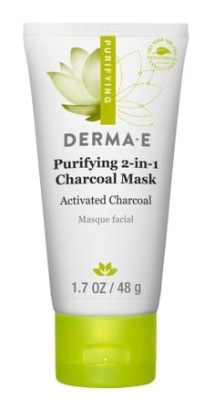 DERMA E Purifying 2 in 1 Charcoal Mask absorbs impurities and gently exfloliates away micropollutants with apricot seed powder. Enjoy our activated charcoal mask for deep pore cleansing. Charcoal Mask Benefits, Charcoal Mask Peel, Acne Face Mask, Face Masks, Face Skin, Salt Face Scrub, Mask For Oily Skin, Face Mapping, Cleansing Mask