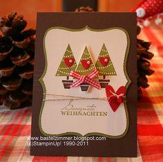 Gesegnete Weihnachten Stampin up Weihnachtskarte