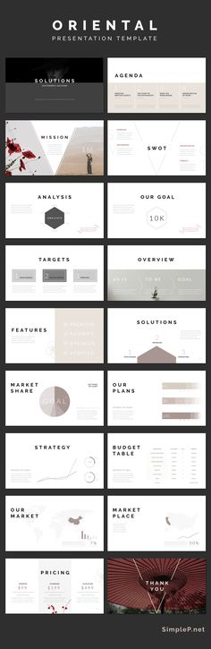Simple Keynote Presentation Template #template #oriental #simple #minimal #solutions #chart #business #marketing