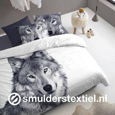 Lekker warm met een Siberische Husky #damai #husky #flanel #dekbedovertrek #overtrek #slaapkamer #bed #slapen #wonen #woontips #woontrends #woonideeen #interieur
