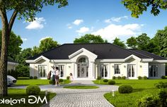 Modern Bungalow Exterior, Modern Bungalow House, Bungalow House Plans, Villa, American Style House, New Era Homes, One Storey House, Modern Small House Design, African House