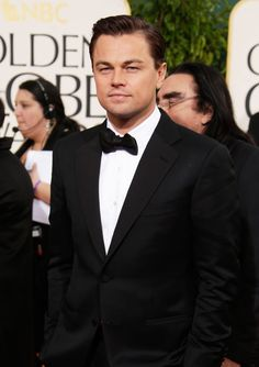 Leo DiCaprio at the 2013 Golden Globes Awards (the king of the world)