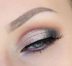 love the rose gold and lavender shimmery shadows in this smokey eye! Makeup Art, Lip Makeup, Makeup Ideas, Makeup Tricks, Makeup Inspo, Bridal Makeup, Wedding Makeup, Wedding Hair, Diy Beauty