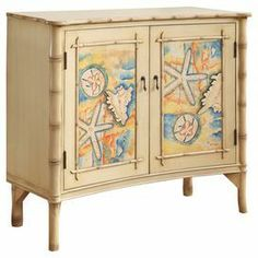 Genial Funky Painted Coastal Furniture | Hand Painted Credenza With A Tidal  Design. Product .