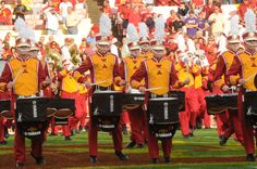 The pride of Iowa State! Iowa State Varsity Football Marching Band performs before the Cyclones storm the field at Jack Trice. Iowa State Cyclones, Dorm Ideas, Education College, My Favorite Part, State University, Cool Bands, Cities, Pride, Football