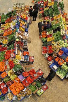 Rengarenk pazar yeri...Love the farmer markets in Istanbul