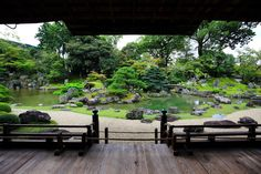 Japanese Garden Design, Japanese Gardens, Flat Stone, Garden Waterfall, Water Hose, Kyoto Japan, Natural Materials, Water Features, Garden Bridge