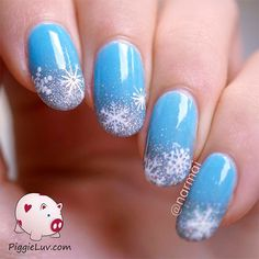 I am bringing before you 15 simple winter nail art designs, ideas, trends & stickers of Winter Nail Art, Winter Nail Designs, Winter Nails, Nail Art Designs, Nails Design, Xmas Nails, Holiday Nails, Dark Nails, Blue Nails