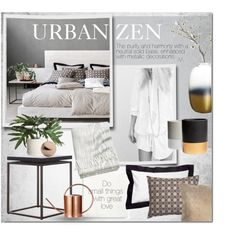 Urban Zen by marisa-martinez-interiorista on Polyvore featuring polyvore, interior, interiors, interior design, home, home decor, interior decorating, H&M, Ethan Allen and Crate and Barrel