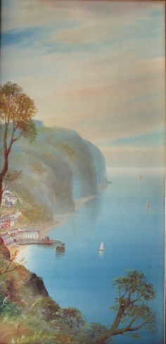 Clovelly, watercolour and gouache on paper, signed Garman Morris c1900.