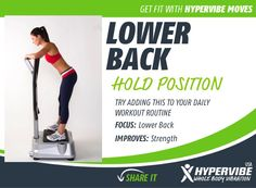 This position can be helpful for relieving back pain.   #backpain #WBV #exercise  www.hypervibe.com