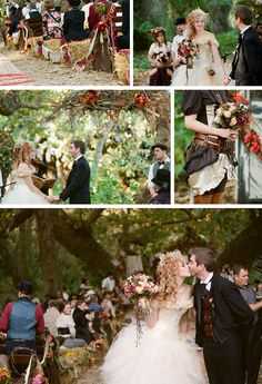 Victorian Steampunk Wedding - by Braedon Flynn Photography | Ruffled Blog ... #AliceInWonderlandWedding; #AttireandAccessories; #BridalBouquet; #BridalGown; #BridalHair; #Ceremony; #CinderellaWedding; #DisneyWedding; #GardenWedding; #Haystacks; #RusticWedding; #SteampunkWedding; #VictorianWedding; #VintageWedding; #WeddingPhotos