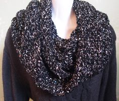 A personal favorite from my Etsy shop https://www.etsy.com/listing/263013903/black-silver-sequin-infinity-scarf