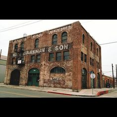 Old warehouse in the Arts District, downtown Los Angeles.