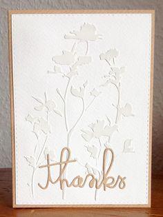 """Stencil """"Wildflowers"""" von Tim Holtz, """"thanks"""" Stanze SU"""