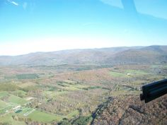 Roxbury NY Delaware County from a helicopter.  What a view of the mountains.