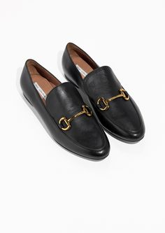 & Other Stories image 2 of Leather Loafers in Black