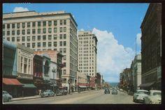CHATTANOOGA, TN ~ Market Street 1962 Chrome Postcard STREET SCENE