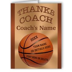 Huge Basketball Coach Cards with ALL Players NAMES and their Numbers along with the Coach's Name, Year, Team Name etc.  8 text box templates to type in or delete the text. CLICK: http://www.zazzle.com/big_basketball_coach_cards_with_all_players_names-137953528726512889?rf=238147997806552929  See other coordinating Basketball Coach Gifts. HERE: http://www.zazzle.com/littlelindapinda/gifts?cg=196910912462895451&rf=238147997806552929 Call Linda for HELP or to make Changes on designs…