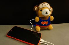 Charlie the ChargeBear is an adorable teddy bear that can charge your phone, tablet, or any other electronic device.