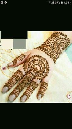 Hassanツ😍😘 Full Mehndi Designs, Latest Bridal Mehndi Designs, Mehandhi Designs, Simple Arabic Mehndi Designs, Mehndi Designs For Beginners, Mehndi Designs For Fingers, Wedding Mehndi Designs, Mehndi Design Pictures, Beautiful Henna Designs