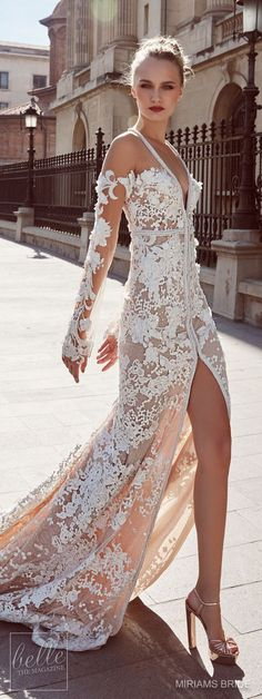 Incorporating rich, luxe fabrics such as satin and lace with incredible beading and detailing, once you lay your eyes on Miriams Bride 2018 wedding dress collection filled with stunning bridal gowns you'll be totally smitten. Dresses Elegant, Sexy Wedding Dresses, Elegant Wedding Dress, Perfect Wedding Dress, Bridal Dresses, Beautiful Dresses, Wedding Gowns, Bridesmaid Dresses, Wedding Ceremony
