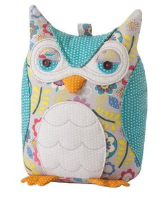 The Ulster Weavers fabric Owl door stop is a beautiful addition to any room. Owl Doorstop, Fabric Door Stop, Sewing Crafts, Sewing Projects, Sewing Toys, Peg Bag, Owl Fabric, Owl Always Love You, Cat Dog