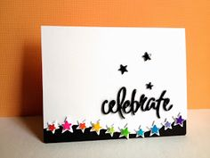 SSS Star die; using sharpies to color the white cardstock