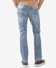 Silver Jeans Co. Men's Konrad Slim Fit Straight Jeans - Blue 34x30