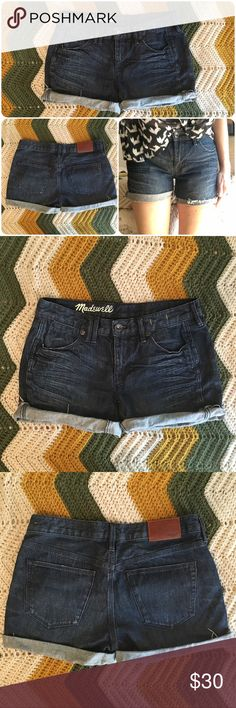 madewell denim shorts super cute denim cut off Madewell shorts. size 25. wore only a few times after realizing the cut was not fit for my waist and short torso, but they make your backside look great! Madewell Shorts Jean Shorts