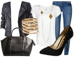 """Workwear """"Basic"""" composed by Marine mada on stylefruits. Hipster Outfits, Adrette Outfits, Preppy Outfits, Classy Outfits, Fashion Outfits, Legging Outfits, Leggings Fashion, Fashion Mode, Boho Fashion"""