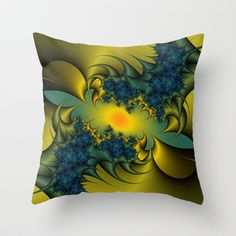 Blue Thistle Throw Pillow by Christy Leigh - $20.00