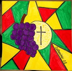 Check out student artwork posted to Artsonia from the First Communion Stained Glass project gallery at St. Catholic School, Stained Glass Projects, First Holy Communion, Art Lesson Plans, Art Museum, Art For Kids, Art Projects, Religion, Student