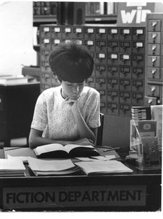 """19 Vintage Photographs Of Stylin' Librarians: Definitive proof that books are the sexiest accessory of all."""