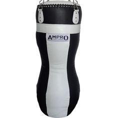 Ampro Top-To-Toe Buffalo Leather Punchbag - Black/White £250.00