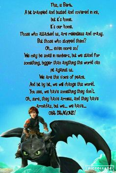 Awesome =) ♡ < I love this. HTTYD 2 is such a great movie. :)