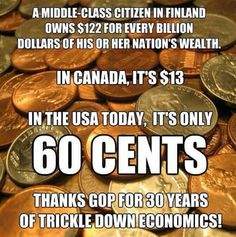 Gotta love trickle down economics. Look how far they've gotten us!