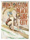 Huntington Beach, Surf City Giclée-Druck